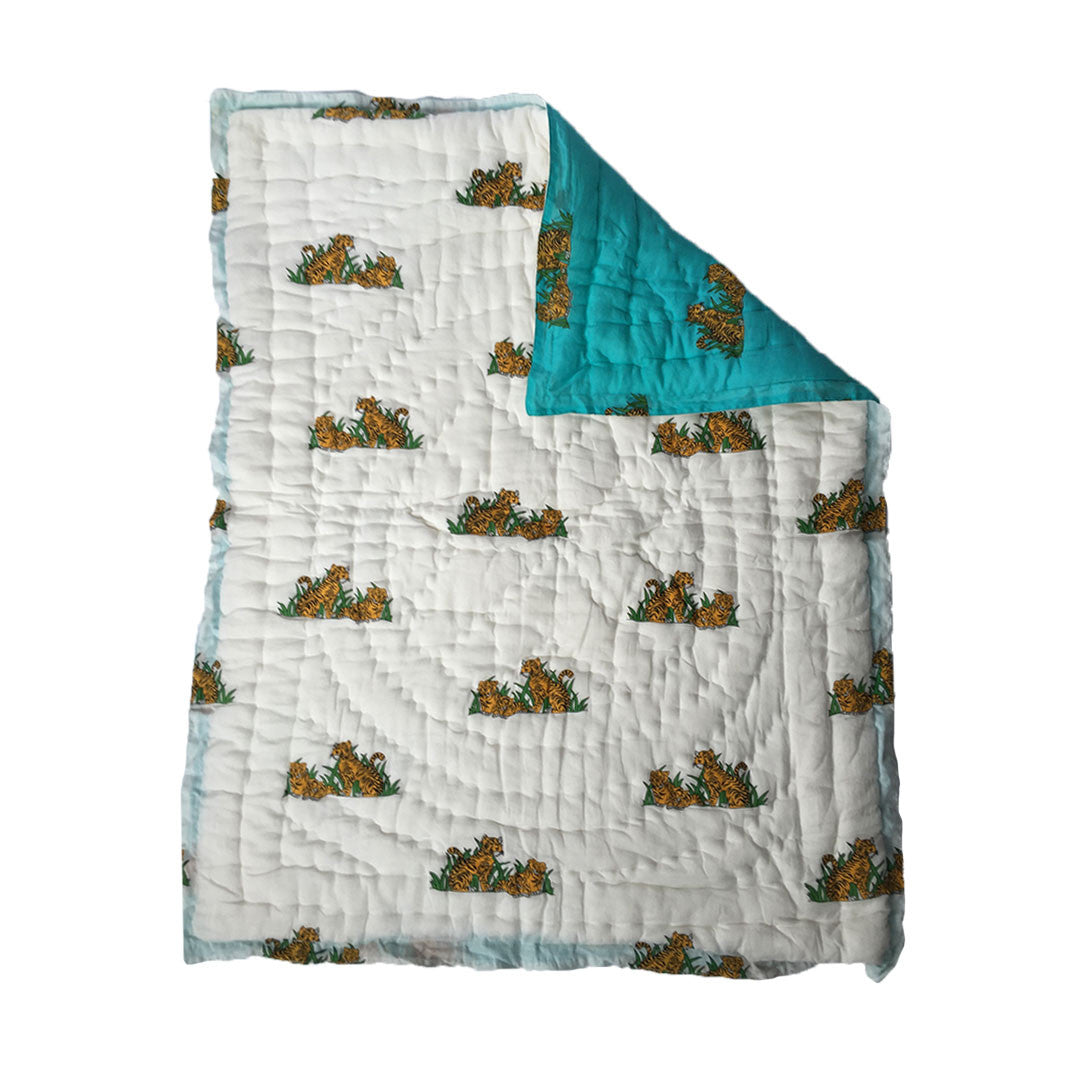 Quilted Cotton Baby Blanket- Tiger -  - 2