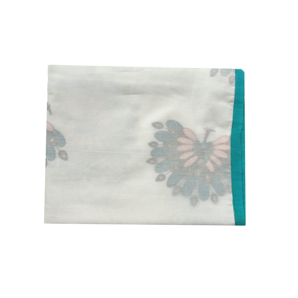 Layered Muslin Blanket- Peacock -  - 1