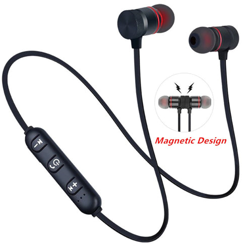 Wireless Sports Bluetooth Magnet Earphone Hands-Free Headphone for All Smartphone