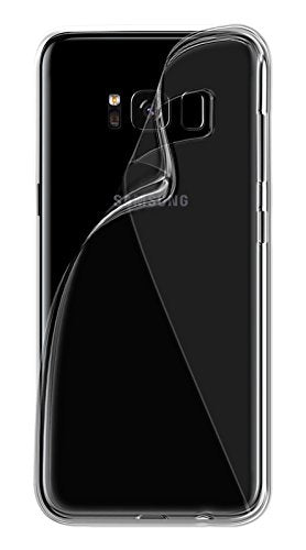 Samsung Galaxy S8 Silicone Soft Back Case Cover (Transparent)