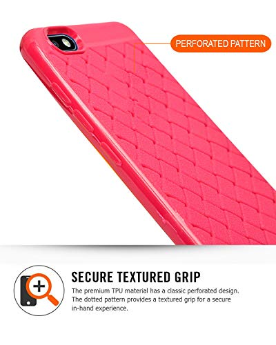 Oppo Realme 1 Silver Limited Edition Texture Soft Cusion Padding Back Case Cover - Pink