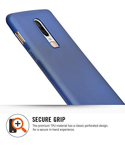 OnePlus 6 Rubberized Slim Protective Case Back Cover - Navy Blue