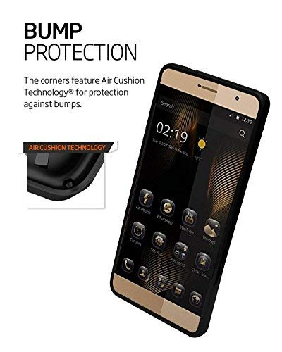 Gionee Marathon M5 lite Texture Soft Cusion Padding Back Case Cover - Black
