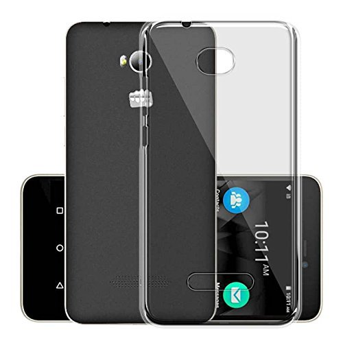 Micromax Canvas Spark 3 Q385 Silicone Soft Back Case Cover (Transparent)
