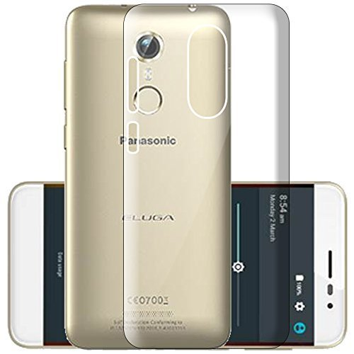 Panasonic Eluga Pulse X Silicone Soft Back Case Cover (Transparent)