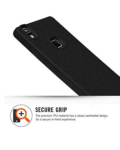 Lava Z80 4G Texture Pattern Soft Cusion Padding Case Back Cover - Black