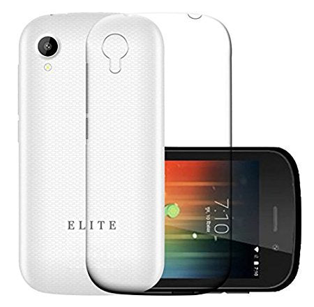 Swipe Elite Star Silicone Soft Back Case Cover (Transparent)