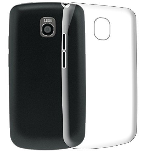 LG Vortex VS660 Silicone Soft Back Case Cover (Transparent)