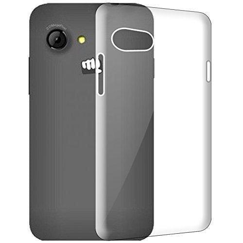 Micromax Bolt Q326 Silicone Soft Back Case Cover (Transparent)