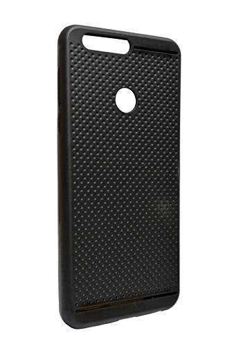 Huawei Honor 8 Dotted Rubberised Soft Back Case Cover (Black)