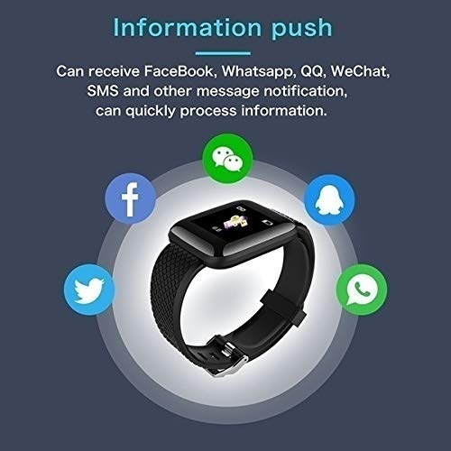 ECellStreet Pro 2 Smart  Band Fitness Tracker Watch Heart Rate with Activity Tracker Sweatproof Body Functions Like Steps Counter, Calorie Counter, Blood Pressure, Heart Rate Monitor LED Touchscreen