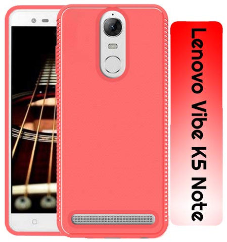 Lenovo Vibe K5 Note Grip Series Flexible TPU Soft Protective Back Case Cover - Red