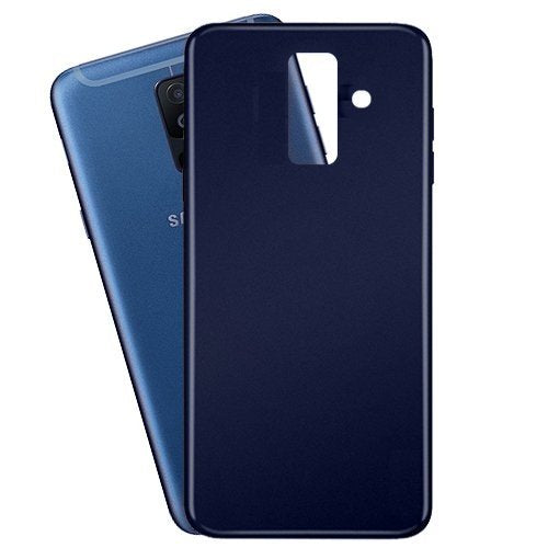 Samsung Galaxy A6 Plus Rubberized Slim Protective Case Back Cover - Blue