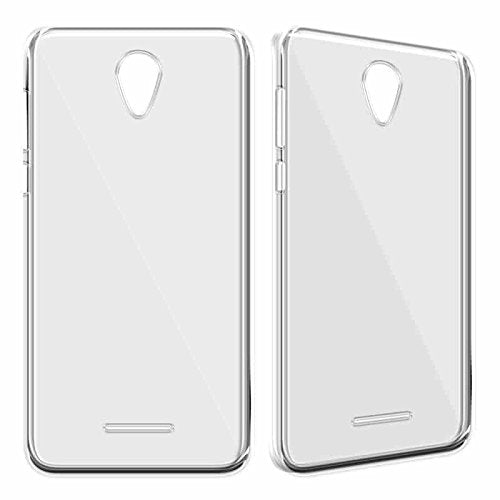 Micromax Vdeo 5 Silicone Soft Back Case Cover (Transparent)