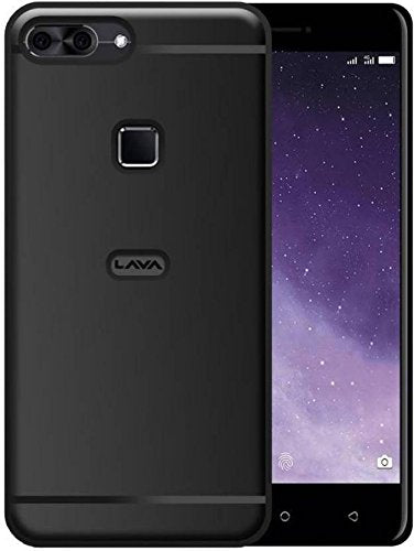 Lava Z90 4G Silicon Soft Back Cover Protective Case (Black)