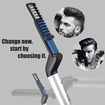 ECell Premium Hair Styler V2 for Men /Women Quick Hair Straightner Electric Beard Straightener Massage Hair Comb Beard Care Comb Multi functional Curly Hair Straightening Comb Curler