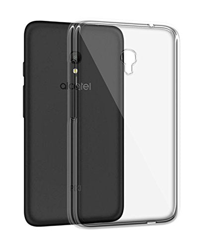 Alcatel Pixi 4 Silicone Soft Back Case Cover (Transparent)