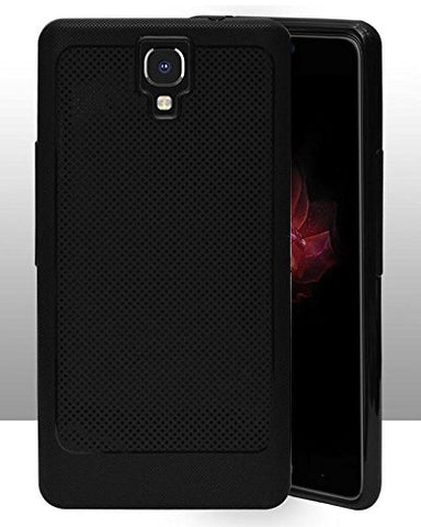Infinix Note 4 Soft Dotted Texture Back Case Cover - Black