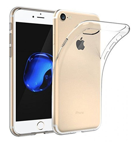 Apple iPhone 7 Silicone Soft Back Case Cover (Transparent)