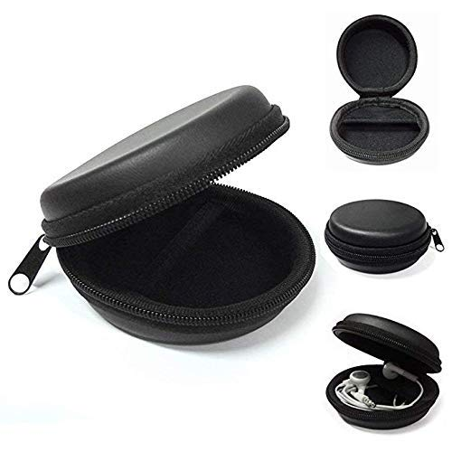 ECellstreet Black Earphone Pouch Multi Purpose Pocket Storage Case for Headphone, Pen Drives, Memory Card, Data Cable