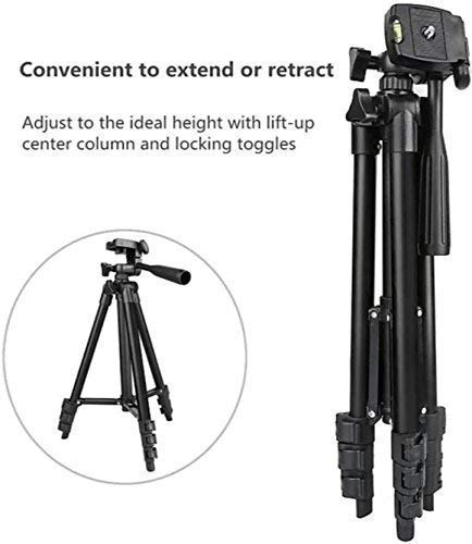 3120 Portable and Foldable Camera Tripod with Mobile Clip Holder Bracket Stand