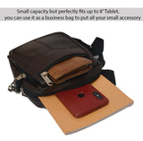 ECellStreet Genuine Leather Small Briefcase Messenger Satchel, Pouch for Lenovo Tab V7, ZA4L0020IN (Dark Brown)