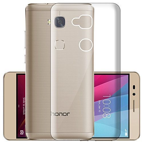 Huawei Honor Holly 4 Plus Silicone Soft Back Case Cover (Transparent)