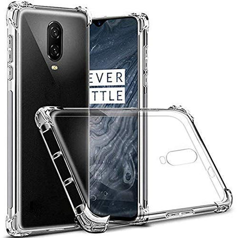 OnePlus 6T Soft PC TPU Bumper Slim Protective Back Cover Case (Transparent)