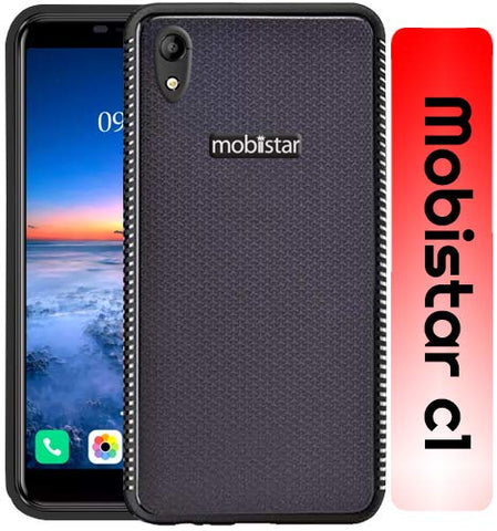 Mobiistar C1 Grip Series Flexible TPU Soft Protective Back Case Cover - Black
