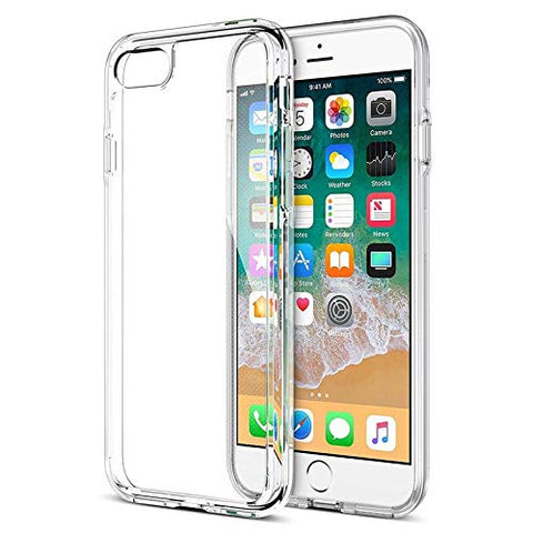 Apple iPhone 8 Silicone Soft Back Case Cover (Transparent)