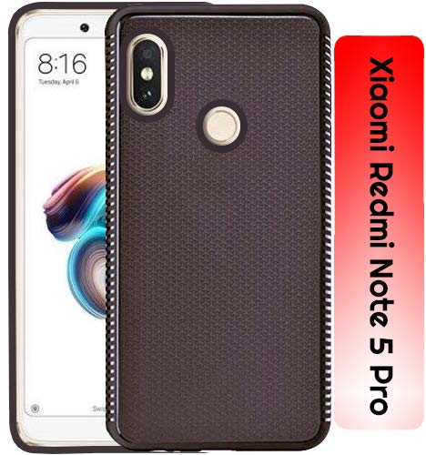 Xiaomi Redmi Note 5 Pro Grip Series Flexible TPU Soft Protective Back Case Cover - Brown