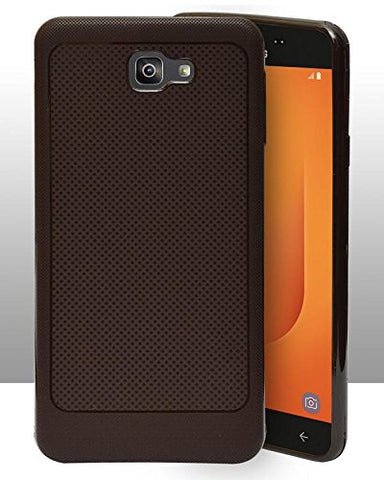 Samsung Galaxy J7 Prime 2 Soft Dotted Texture Back Case Cover - Brown