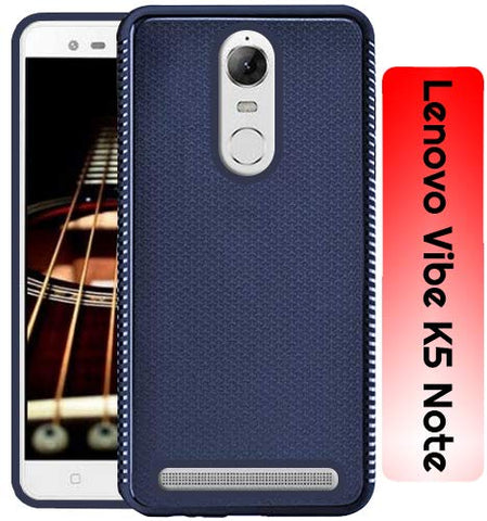 Lenovo Vibe K5 Note Grip Series Flexible TPU Soft Protective Back Case Cover - Blue