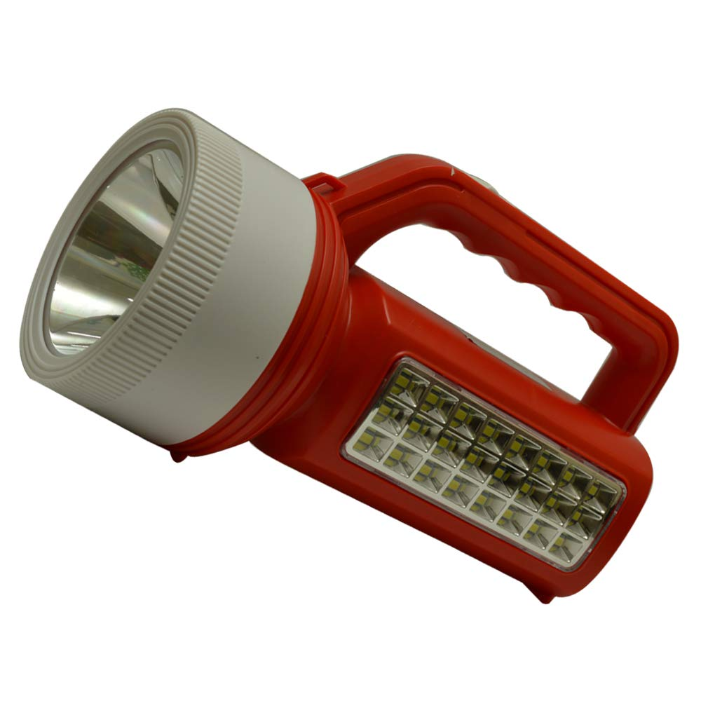 35W+ 24 SMD Rechargeable Jumbo Laser Kisan Torch with Emergency Light (Assorted Color)