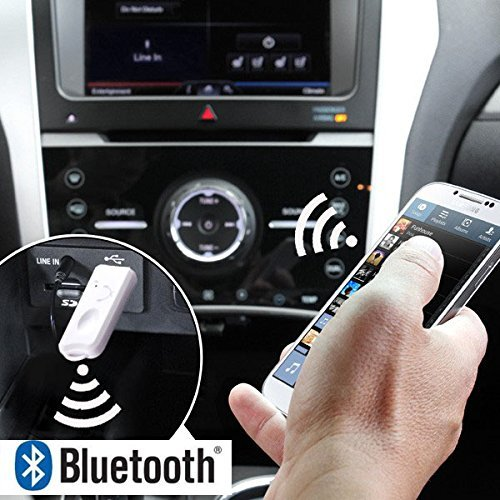 USB Bluetooth Music Receiver Dongle Stereo Audio Music Wireless Receiver Audio Adapter for Car Music System Home Speaker Smart Tv Home Theater Support Handsfree Calling Function