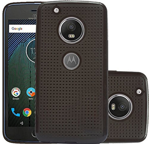 Motorola Moto G5 Dotted Soft Back Case Cover - Brown