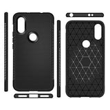 Xiaomi Redmi Note 5 Pro Grip Series Flexible TPU Soft Protective Back Case Cover - Black