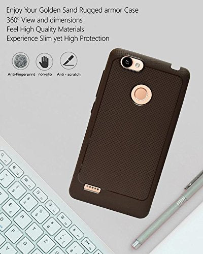 Itel Wish A41 Plus Soft Dotted Texture Back Case Cover - Brown