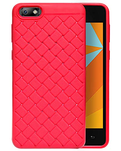 Micromax Bharat 5 Plus Texture Pattern Soft Cusion Padding Case Back Cover - Pink