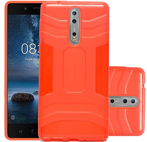 Samsung Galaxy J7 Plus Thin Fit Premium Matte Finish Soft Back Case Cover - Red