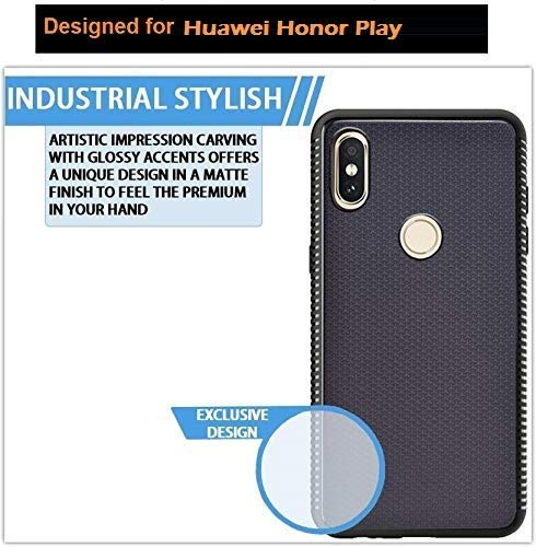 Huawei Honor Play Grip Series Flexible TPU Soft Protective Back Case Cover - Black