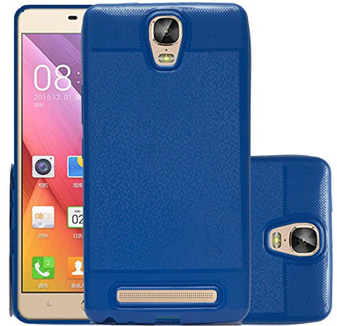 Gionee Marathon M5 Plus Soft Back Case Cover With Camera Protection - Dark Blue