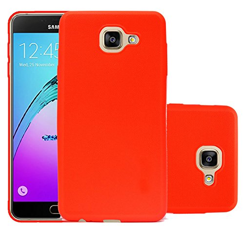 Samsung Galaxy J7 Max Shock Absorbing Soft Back Case Cover with Camera Protection - Red