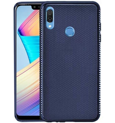 Mobiistar X1 Notch Grip Series Flexible TPU Soft Protective Back Case Cover - Blue