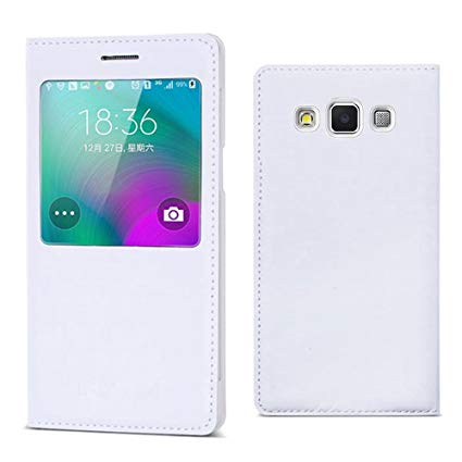 samsung Galaxy A7 2015 Flip Case S View Diary Folio Flap Case Cover - White