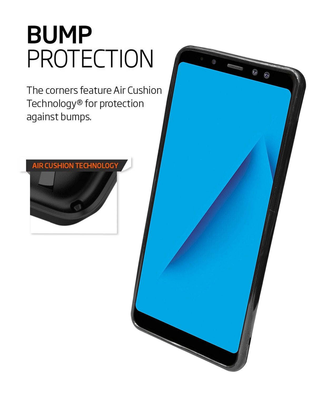 Samsung Galaxy A8 Plus Silicon Soft Back Cover Protective Case (Black)