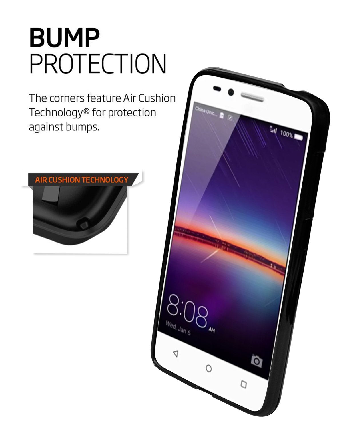 Huawei Honor Bee 2 4G  Silicon Soft Back Cover Protective Case (Black)