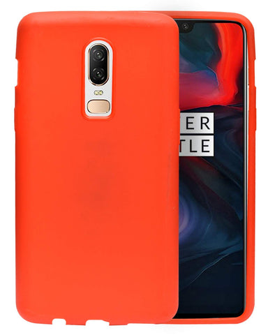 OnePlus 6 Case [Ultra-Thin] [Anti-Drop] Rubberized Slim Protective Case Back Cover - Red