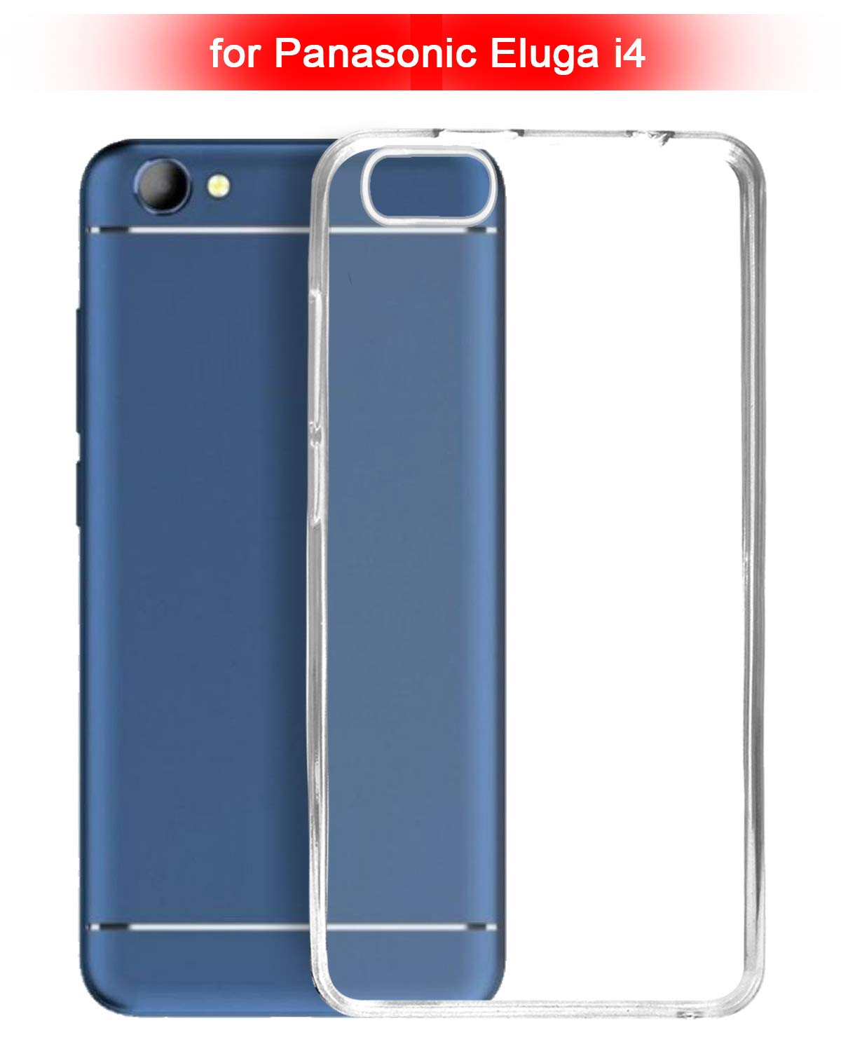 Panasonic Eluga I4 Silicone Soft Back Case Cover (Transparent)