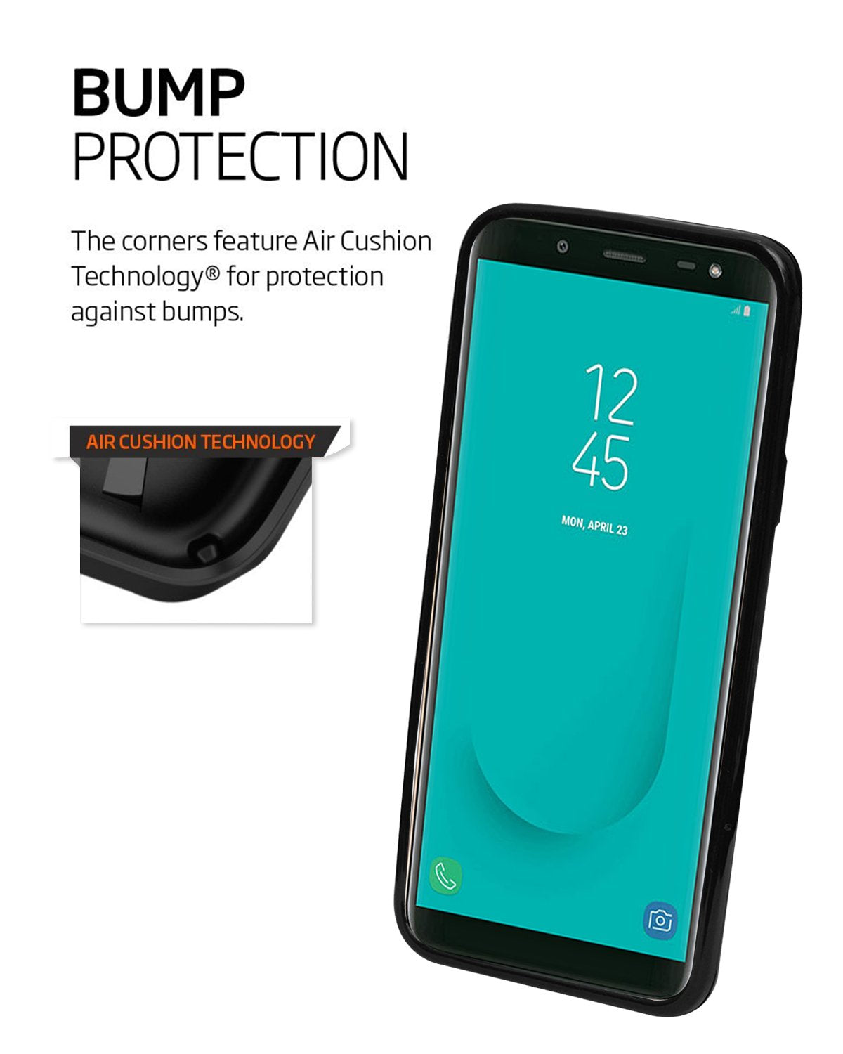 Samsung Galaxy J6 Silicon Soft Back Cover Protective Case (Black)